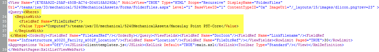 Using a CAML Query to Show Files From a Folder - Tom's Blog